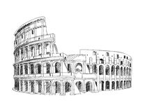 coliseum italy rome vektor illustrationer