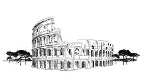 coliseum italy rome royaltyfri illustrationer