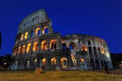 Coliseum - Magische nachten in Rome royalty-vrije stock foto's