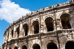 Coliseum in Nîmes stock afbeelding