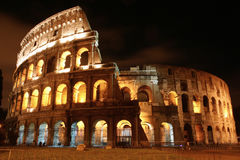 Coliseum by night. Quiet and summer night in front of coliseum Royalty Free Stock Image