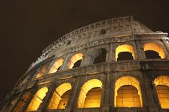 Coliseum at night royalty free stock images