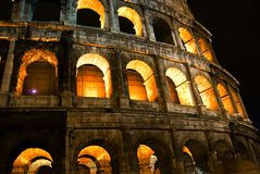 Coliseum by night Stock Photo