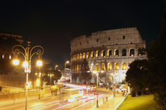 Coliseum at Night Royalty Free Stock Image