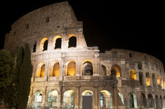 Coliseum at night Royalty Free Stock Photos