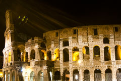 Coliseum during the nigth Stock Photography