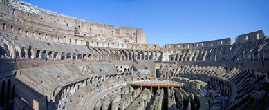 Coliseum panorama in rome Royalty Free Stock Photography