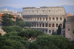 Coliseum in Roma, Italy Royalty Free Stock Images