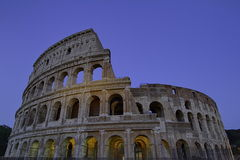 Coliseum, Roma, Italy. And sky blue night Royalty Free Stock Image