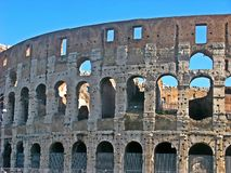 The Coliseum of the Roman Empire stock image