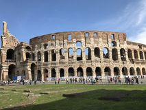 Coliseum. Roman fighters Royalty Free Stock Images