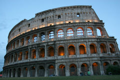 Coliseum, Rome. The Famous and Ancient Roman Landmark royalty free stock photo