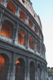 Coliseum, Rome. The Famous Ancient Roman Landmark in Italy royalty free stock photography