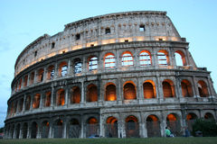 Coliseum, Rome. The Famous Roman Landmark in Italy stock photo