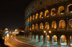 Coliseum of Rome. By night, Italy Royalty Free Stock Photos