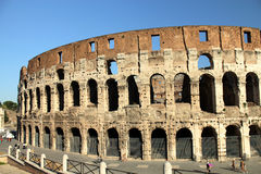 Coliseum in Rome. Coliseum on the background of blue sky in Rome, Italy Royalty Free Stock Images