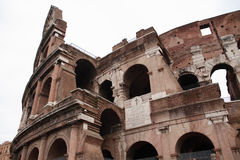 The Coliseum, Rome. Extreme closeup of famous Coliseum in Rome, Italy Stock Image