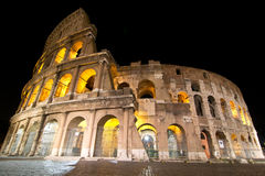 Coliseum of Rome. By night Royalty Free Stock Images