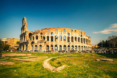 Coliseum in Rome. View on Coliseum in Rome, Italy Royalty Free Stock Image
