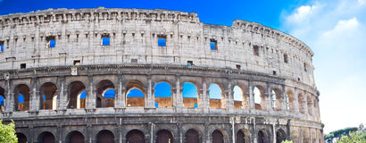 Coliseum in Rome. Panoramic view of famous ancient Coliseum in Rome Royalty Free Stock Photography
