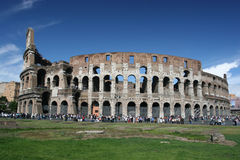 Coliseum, Rome. Famous ancient Roman landmark used for sporting events royalty free stock image