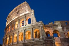Coliseum in Rome city stock images