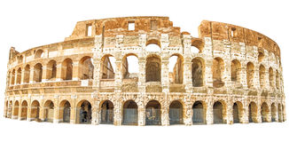 Coliseum Rome isolated. The Coliseum , Colosseum, Flavian Amphitheatre, in Rome city in Italy. Isolated on white background Royalty Free Stock Images