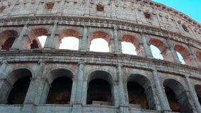 Coliseum Rome Italien - nära övre Timelapse stock video