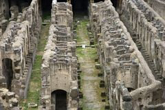 Coliseum in Rome, Italy. Coliseum ruins in Rome, Italy Royalty Free Stock Photo