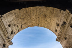 Coliseum of Rome, Italy. Arch of the coliseum of Rome, Italy Stock Photo