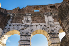Coliseum of Rome, Italy. Arch of the coliseum of Rome, Italy Royalty Free Stock Photography