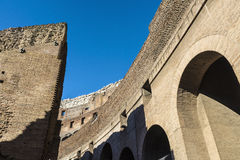 Coliseum of Rome, Italy. Arch of the coliseum of Rome, Italy Stock Image
