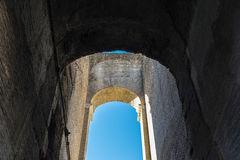 Coliseum of Rome, Italy. Arch of the coliseum of Rome, Italy Royalty Free Stock Image