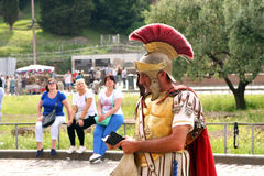 Centurion Coliseum Rome Italy Stock Photography