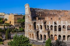 Coliseum in Rome Italy Stock Photo