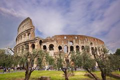 Coliseum, Rome, Italy. Dramatic skies over the Coliseum in Rome Royalty Free Stock Images