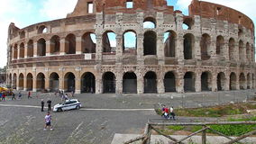 The coliseum in Rome stock video footage