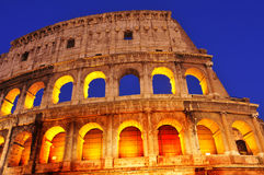 The Coliseum in Rome, Italy, at night Stock Image
