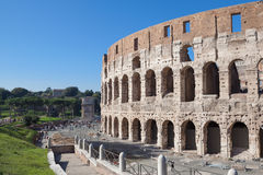 The Coliseum. Rome, Italy - November 7, 2015: The Colosseum is an oval amphitheatre in the centre of the city, built of concrete and sand. It is the largest Stock Photo