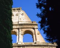 Coliseum Rome Italy  theatre antiquity sight Stock Image