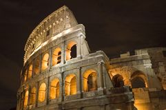 Coliseum in Rome in night Stock Photography