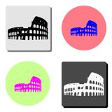 Coliseum in Rome. flat vector icon. Coliseum in Rome. simple flat vector icon illustration on four different color backgrounds royalty free illustration