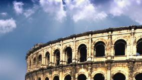 Coliseum in Rome with time lapse clouds, stock footage. Video stock video footage