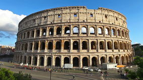 Coliseum and Rome traffic stock footage
