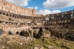 The Coliseum in Rome. A view of the Coliseum in Rome, Italy on a sunny day Stock Photography