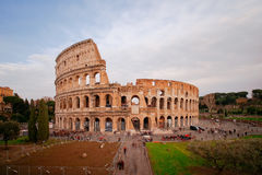 Coliseum seen from front , long exposure with no recognizable people. Stock Photos