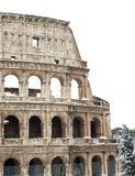 Coliseum with snow, Rome. Stock Photos
