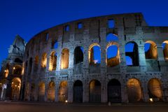 Coliseum at sunrise Stock Photo