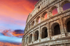 Coliseum at sunset Royalty Free Stock Images