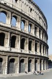 Coliseum and Tourists Royalty Free Stock Photography